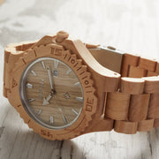 Maple Thanatos Wood Watches for Men Bewell Watches Engraved Watches