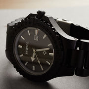 African Blackwood Poseidon Wood Watch For Men Bewell Watches Engraved Watch