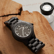 African Blackwood Thanatos Wood Watch For Men Bewell Watches Engraved Watches