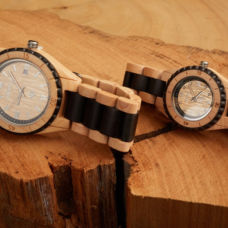 bewell wood watch, lover watch