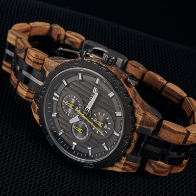 Bacchus Chronograph wooden watch