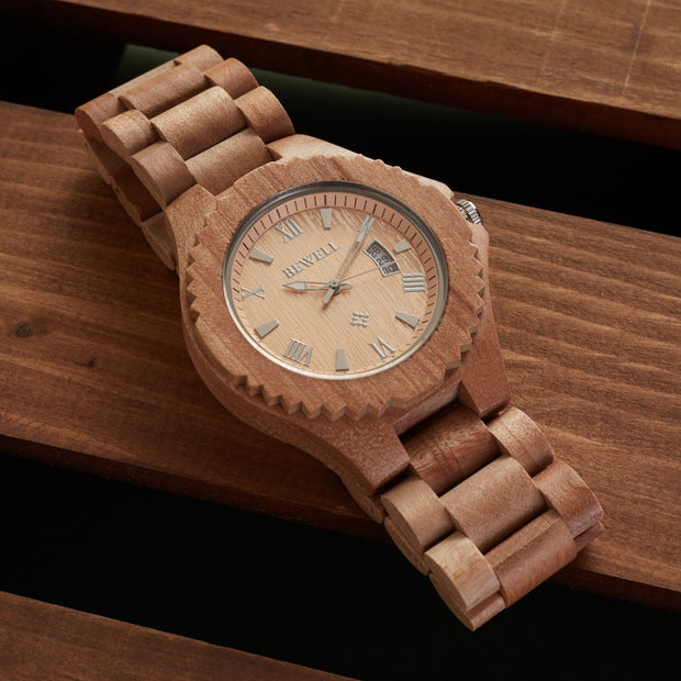 Walnut Apollo Wood Watches Bewell Watches Engraved Watches