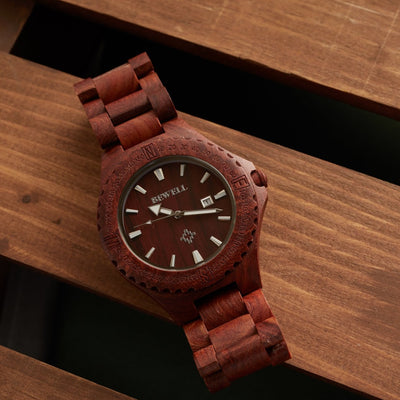 Red Sandalwood Poseidon Watch
