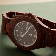 Fashion handcrafted red sandalwood watch