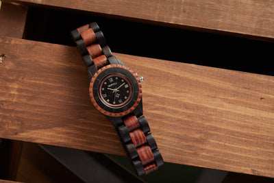 Red Sandalwood & Ebony Juno Women Watch