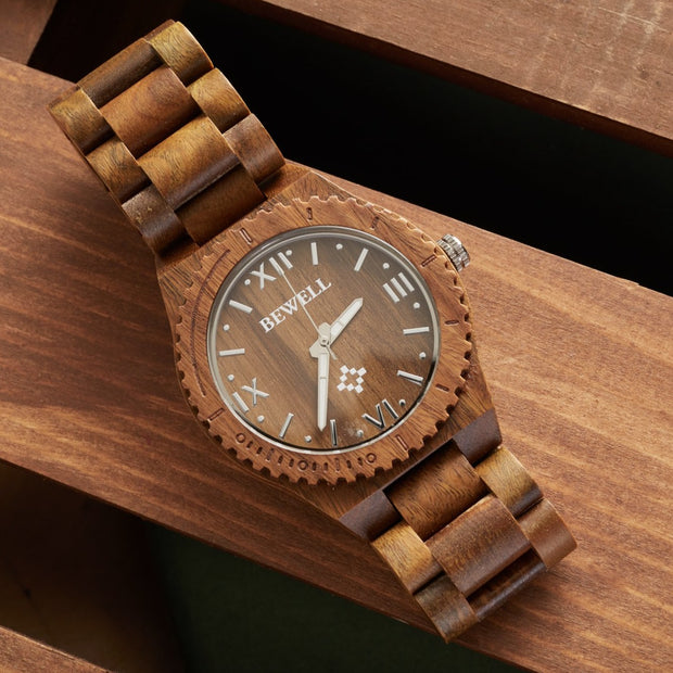 Premium Unisex Verawood Watch, wood watch for men, bewell watches, engraved watches