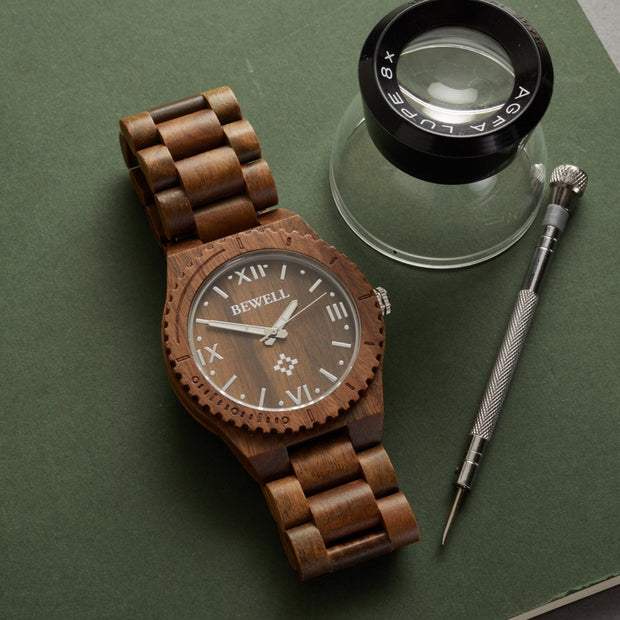 Premium Unisex Verawood Watch, wood watches for him, wooden watch for husband, wood watch for son