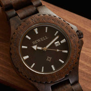 Black sandalwood wood watches for men Bewell Watches Engraved Watches
