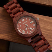 Premium Unisex Red Sandalwood Watch