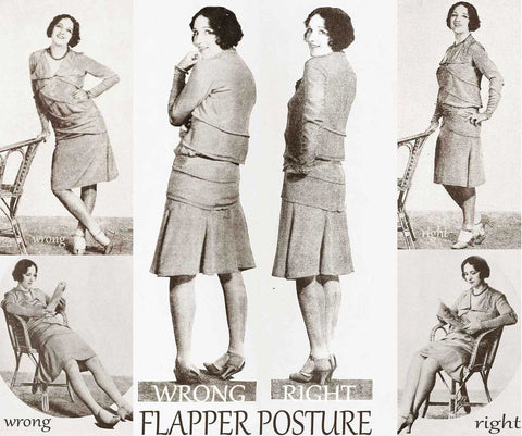Flapper guide to posture 1920s