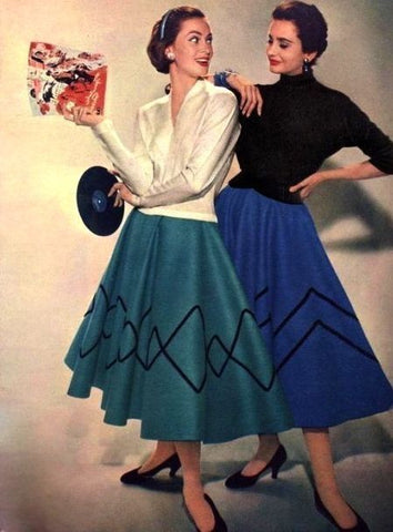 Unknown. Ladies of Vinyl, ca. 1950s. Source: Pinterest