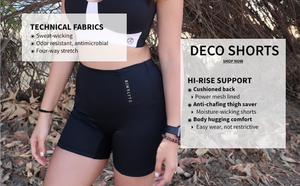 Anti-chafing thigh shorts with high rise support