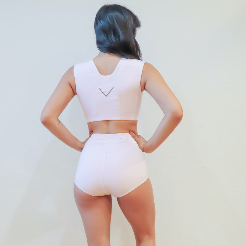 Back view of the Freedom Bra and Ally Underwear in Eco Jersey