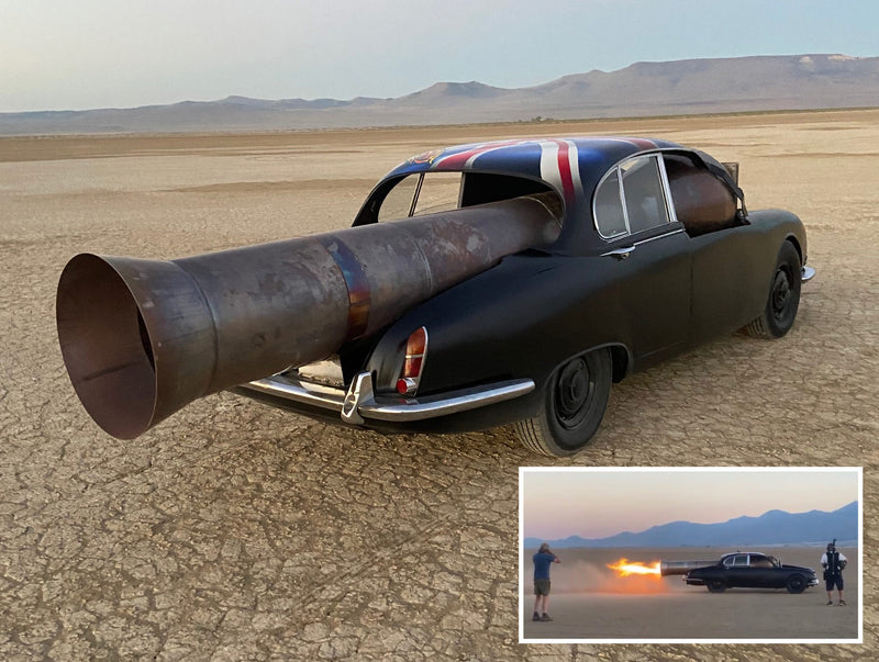 "A Pulse Jet Powered Jaguar S-Type by Bob ""The Rocketman"" Maddox"