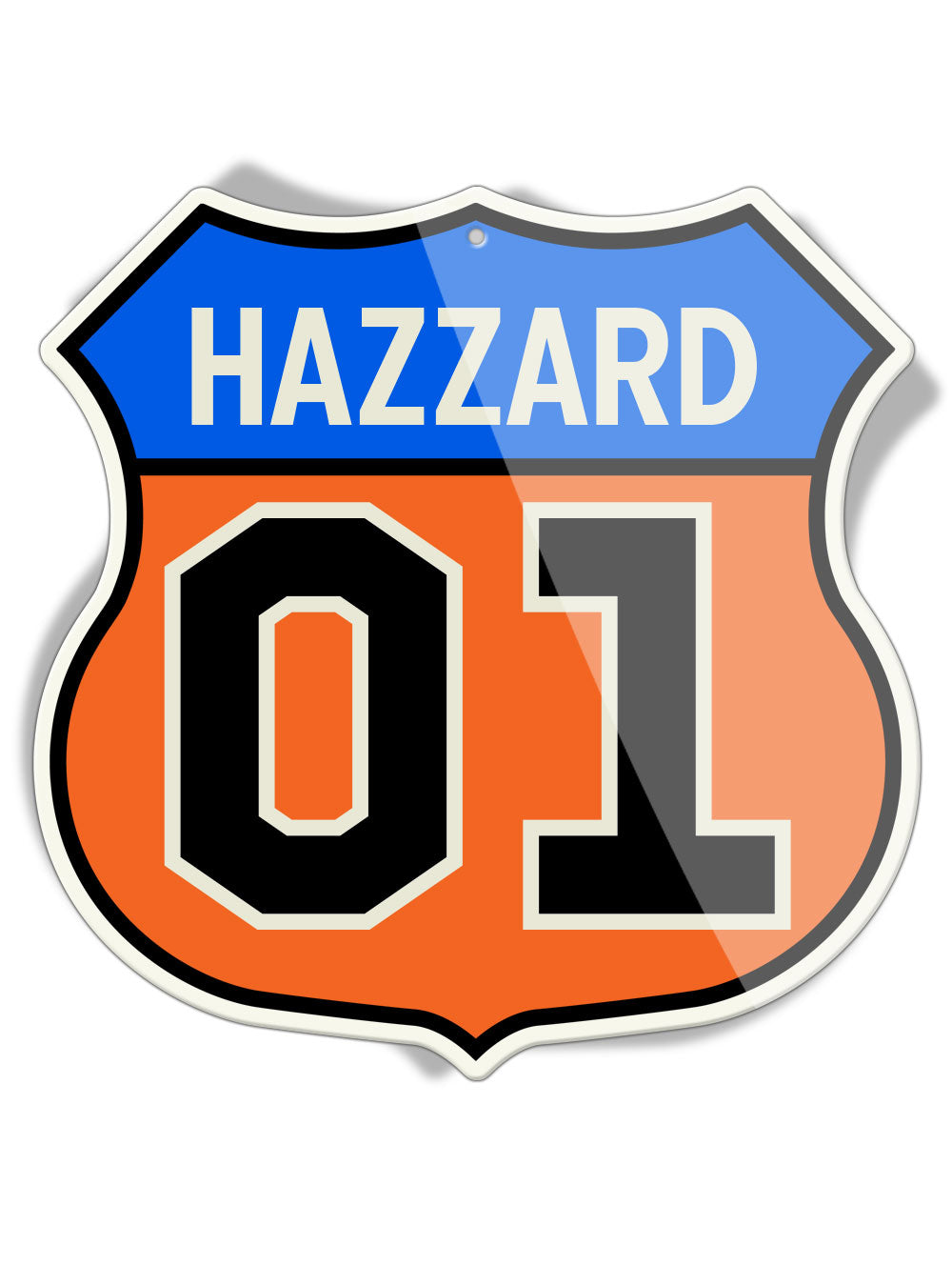 Dukes of Hazzard - 01 Hazzard Shield Shape - Aluminum Sign