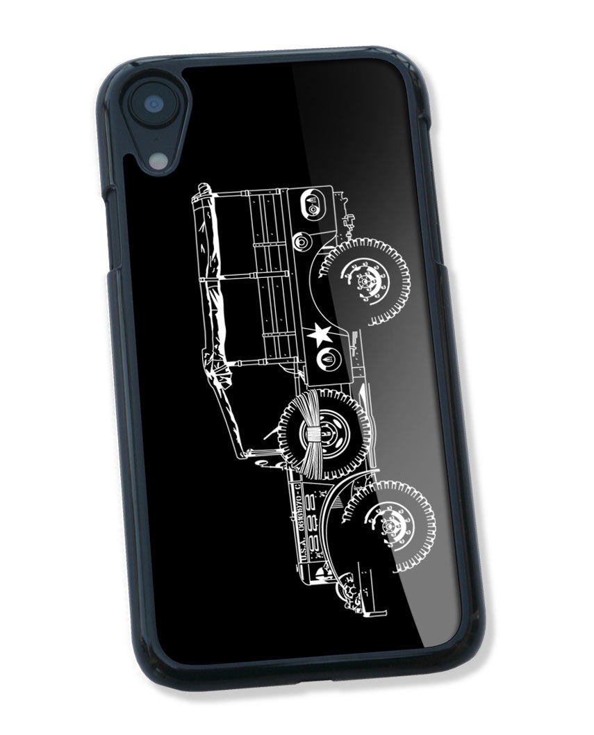 1944 Dodge WC-51 Weapons Carrier WWII Smartphone Case - Side View