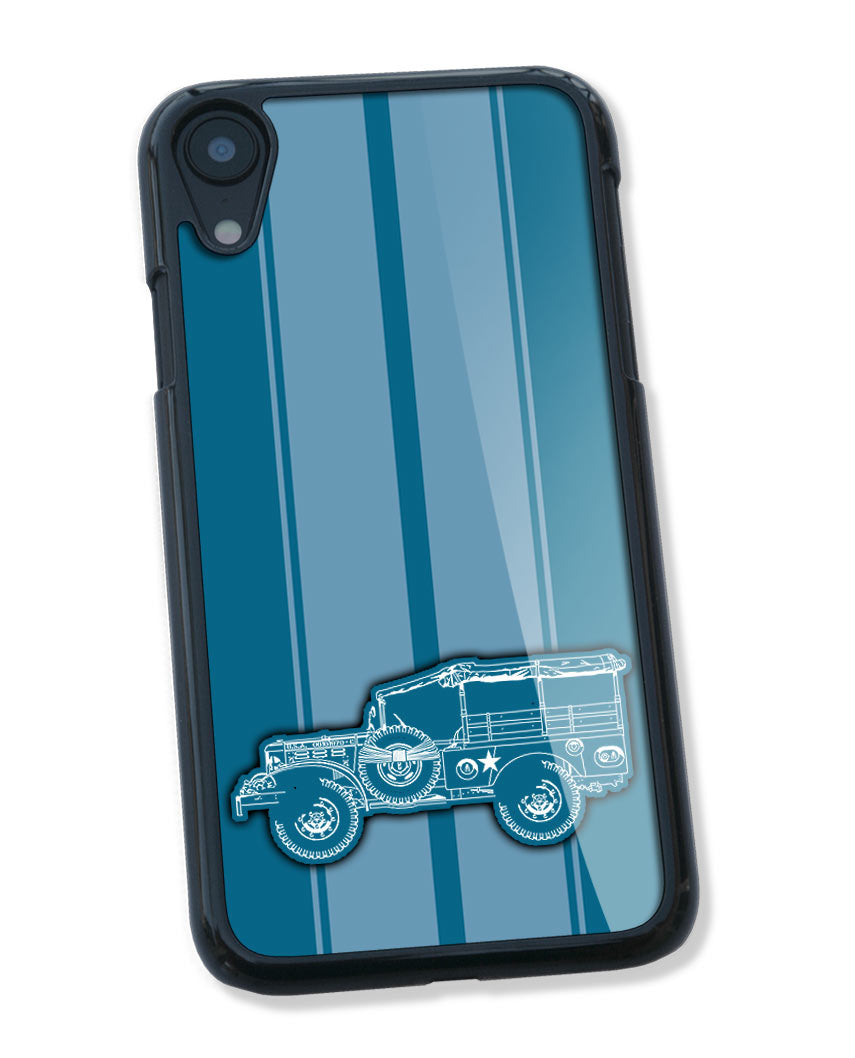 1944 Dodge WC-51 Weapons Carrier WWII Smartphone Case - Racing Stripes