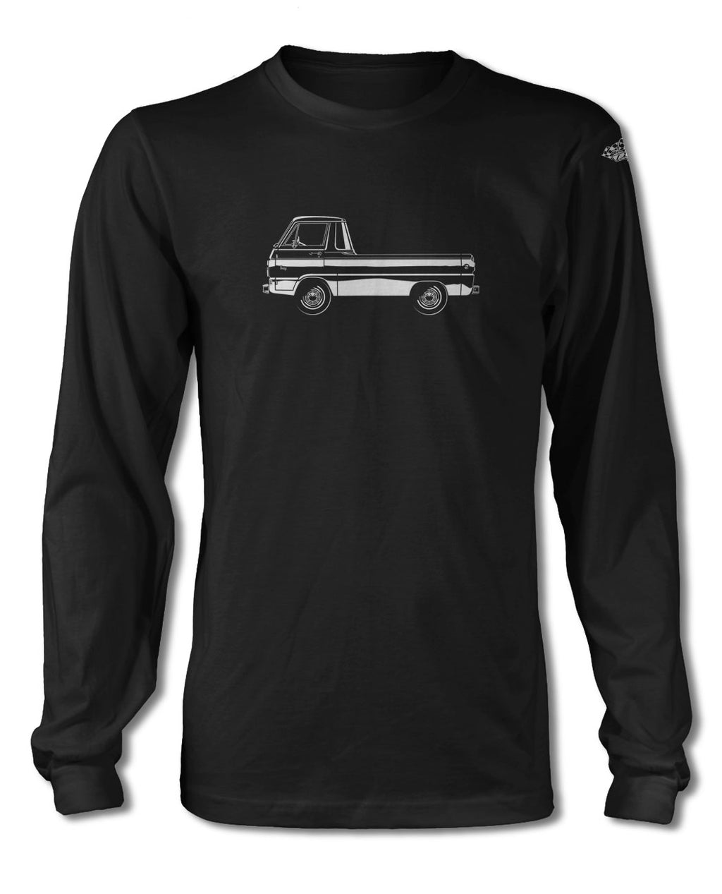 1965 Dodge A100 Pickup T-Shirt - Long Sleeves - Side View