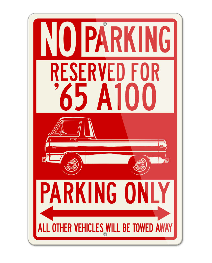 1965 Dodge A100 Pickup Parking Only Sign