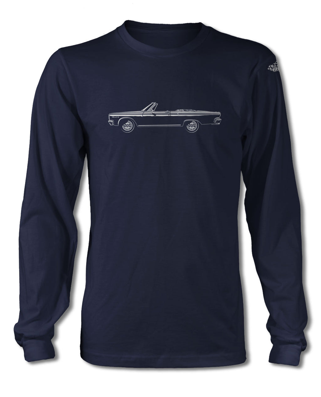 1965 Dodge Coronet 440 Convertible T-Shirt - Long Sleeves - Side View