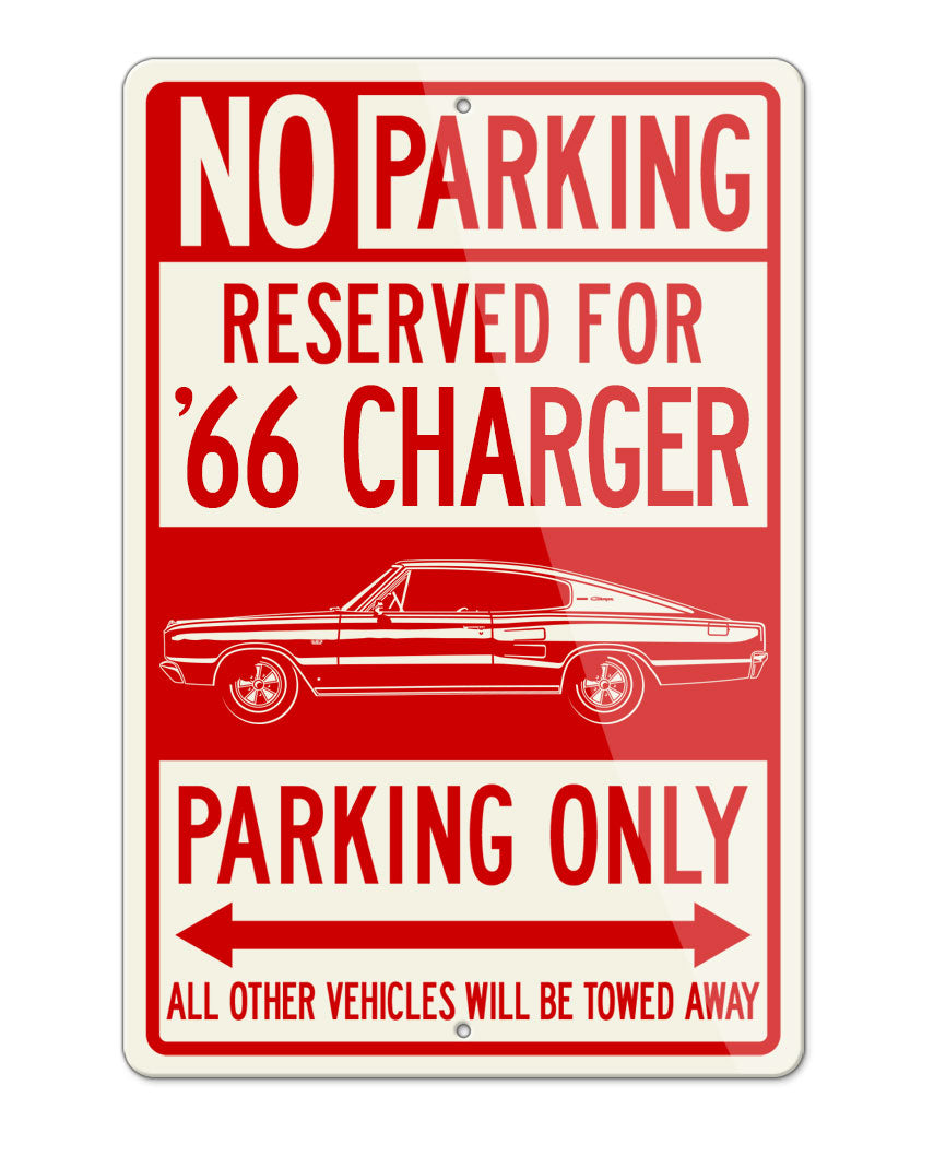 1966 Dodge Charger Coupe Parking Only Sign