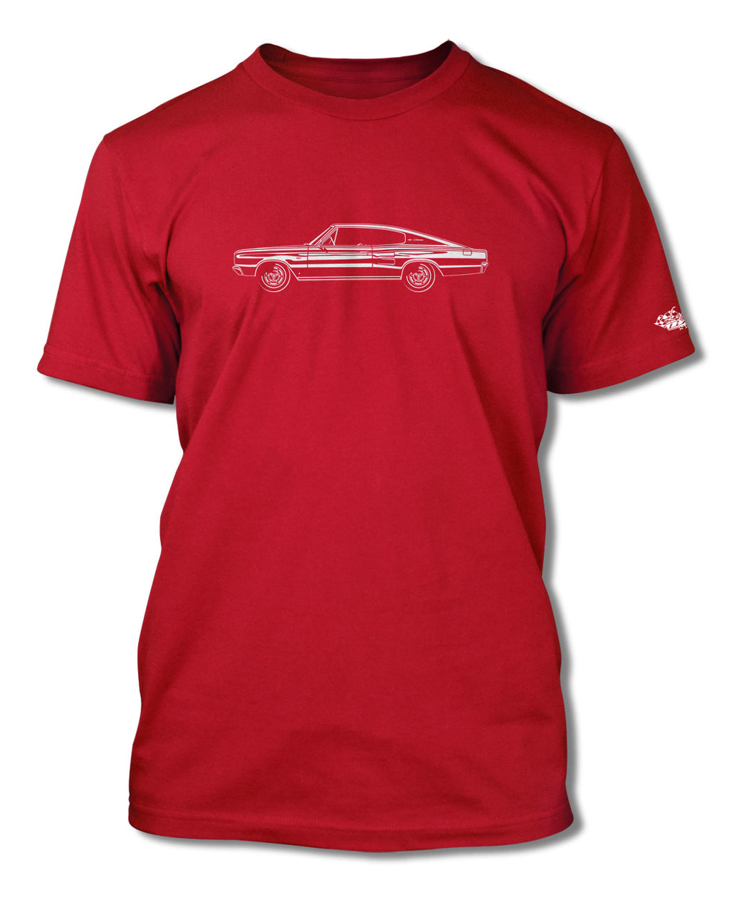1966 Dodge Charger Coupe T-Shirt - Men - Side View