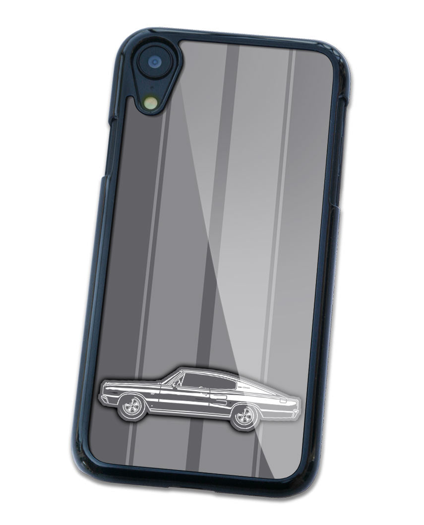 1966 Dodge Charger Coupe Smartphone Case - Racing Stripes