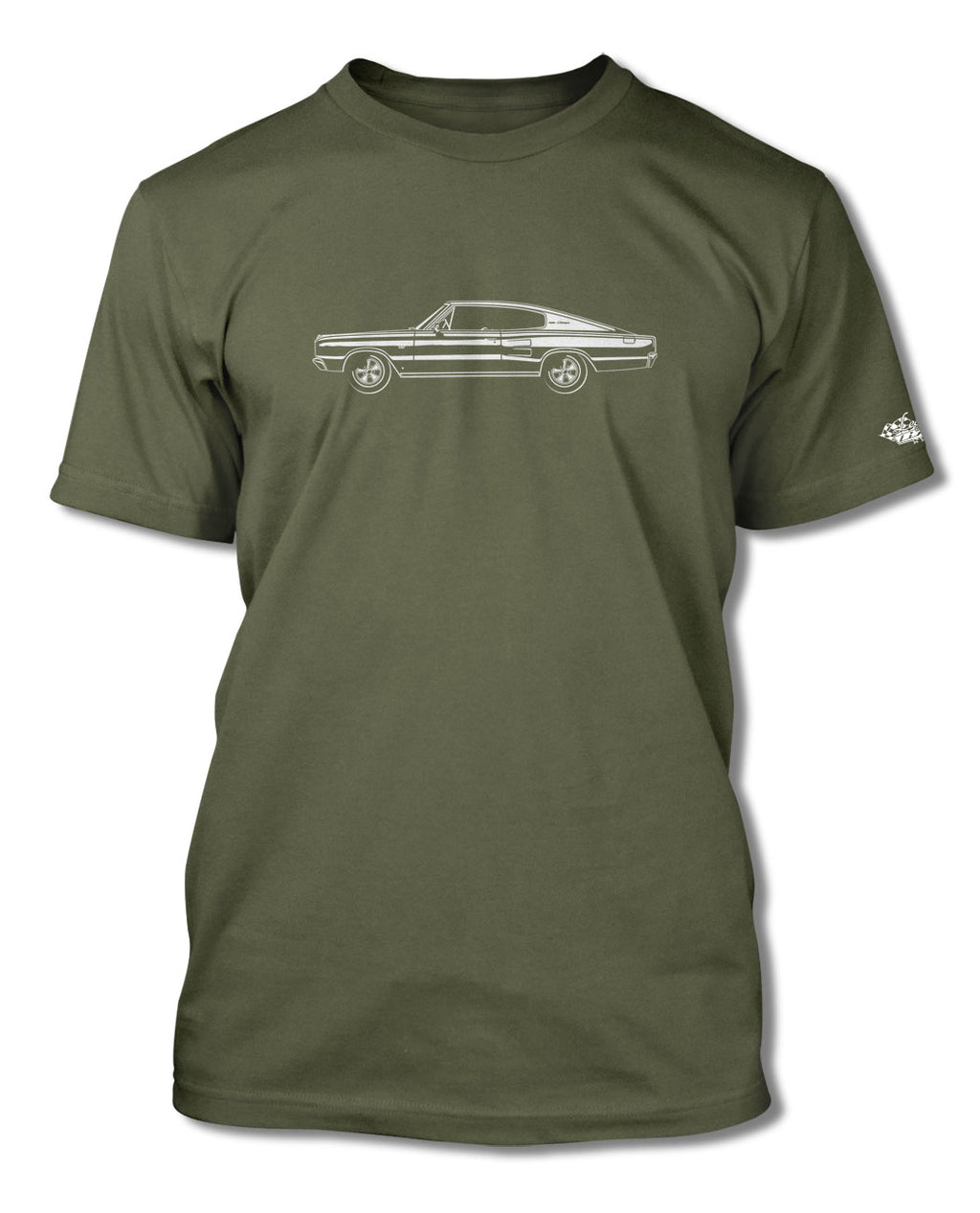 1967 Dodge Charger Coupe T-Shirt - Men - Side View
