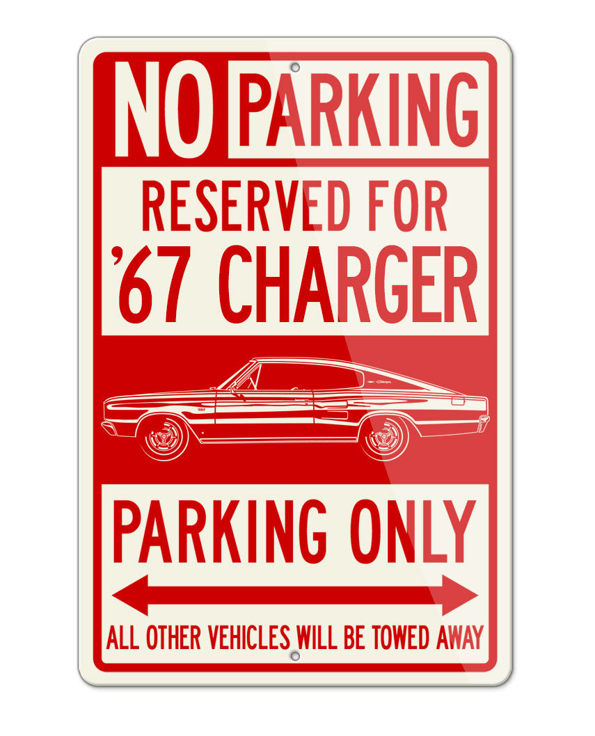 1967 Dodge Charger Coupe Parking Only Sign