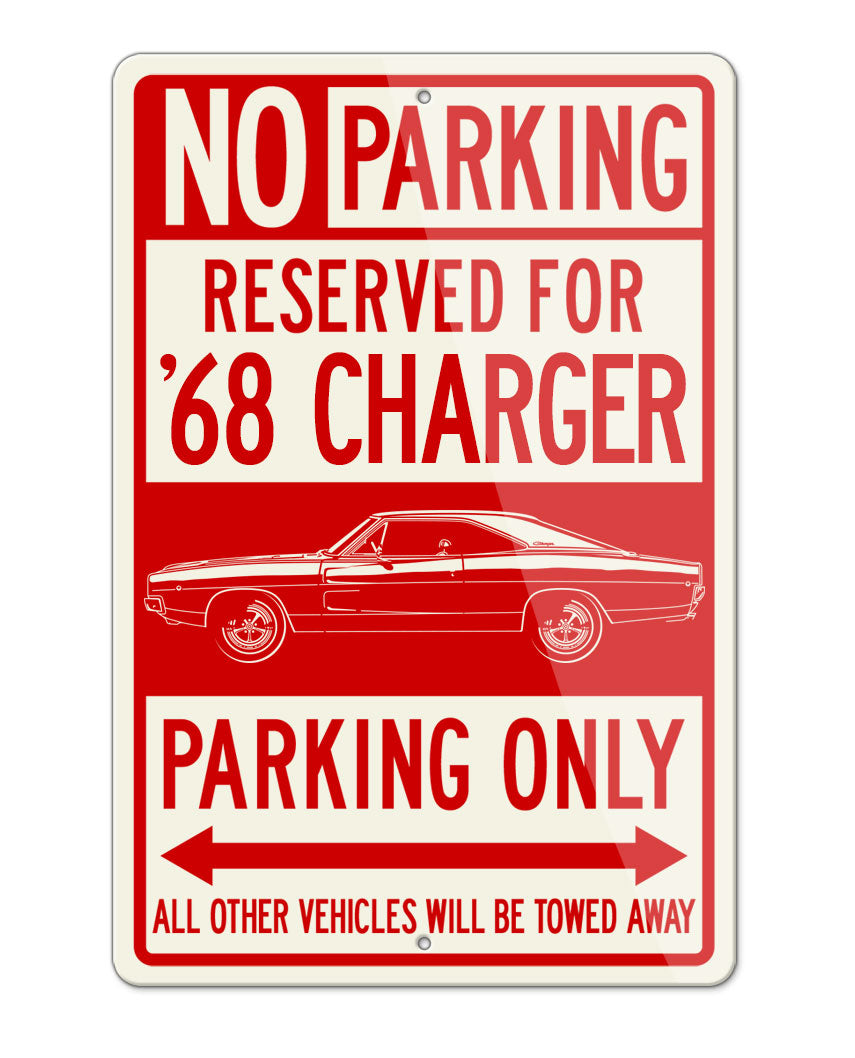 1968 Dodge Charger Base Hardtop Parking Only Sign