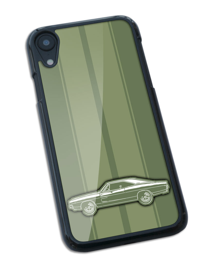 1968 Dodge Charger Base Hardtop Smartphone Case - Racing Stripes