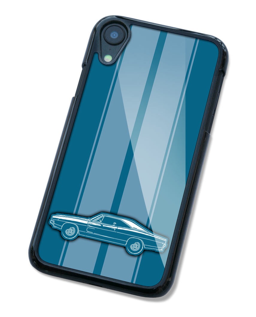 1968 Dodge Charger RT Bullitt Hardtop Smartphone Case - Racing Stripes