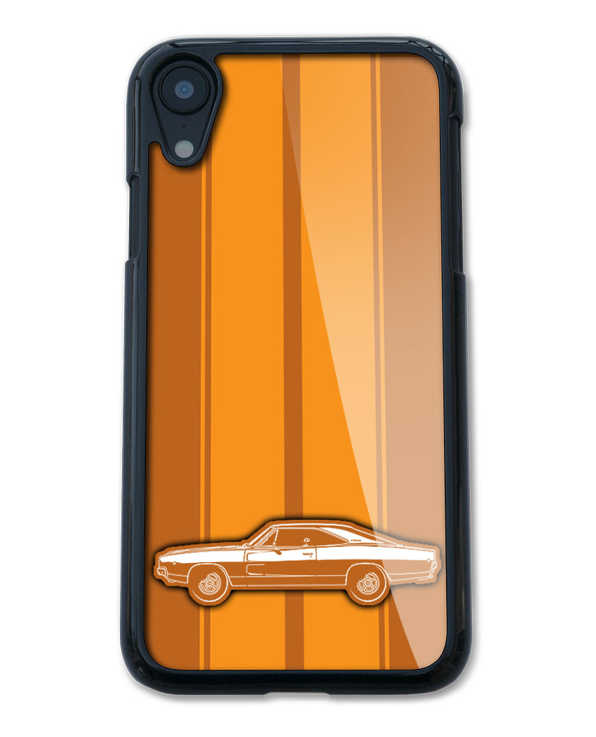 1968 Dodge Charger RT Coupe Smartphone Case - Racing Stripes