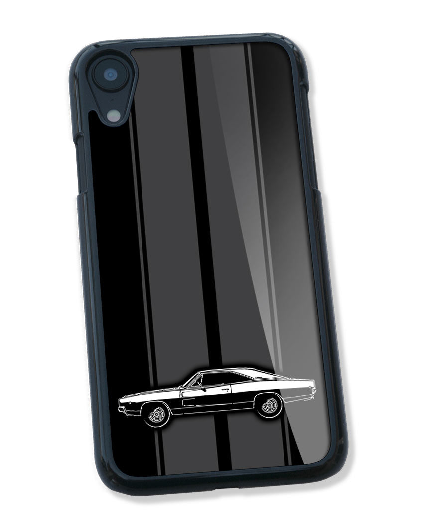 1968 Dodge Charger RT Hardtop Smartphone Case - Racing Stripes