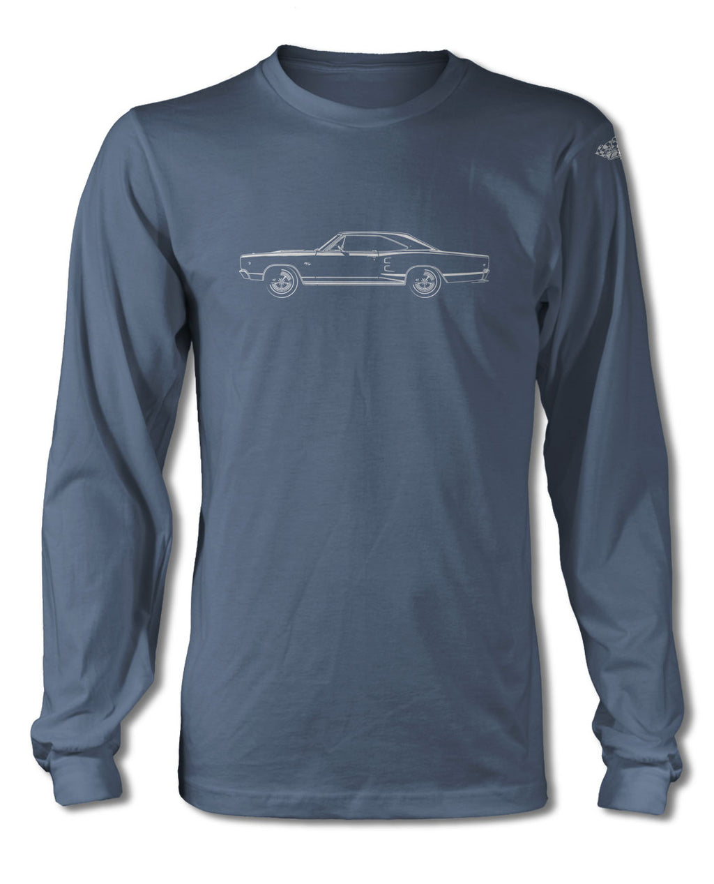 1968 Dodge Coronet RT Coupe T-Shirt - Long Sleeves - Side View