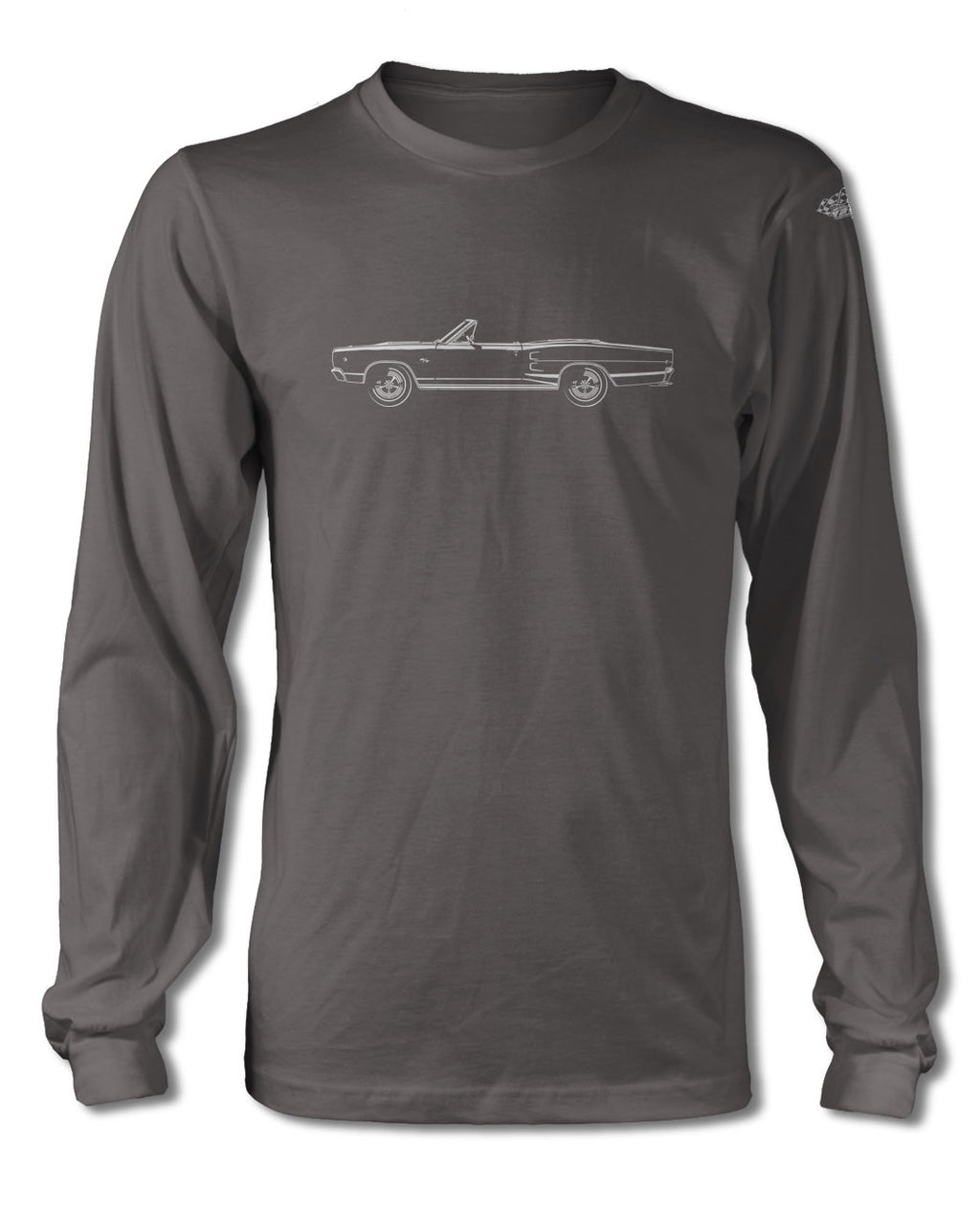 1968 Dodge Coronet RT Convertible T-Shirt - Long Sleeves - Side View