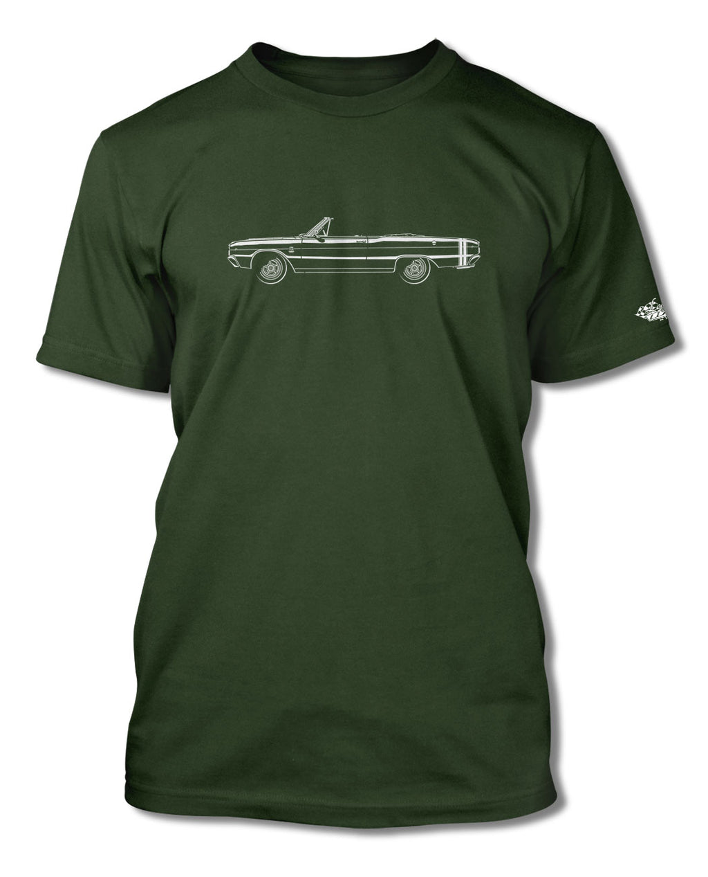 1968 Dodge Dart GTS Convertible T-Shirt - Men - Side View
