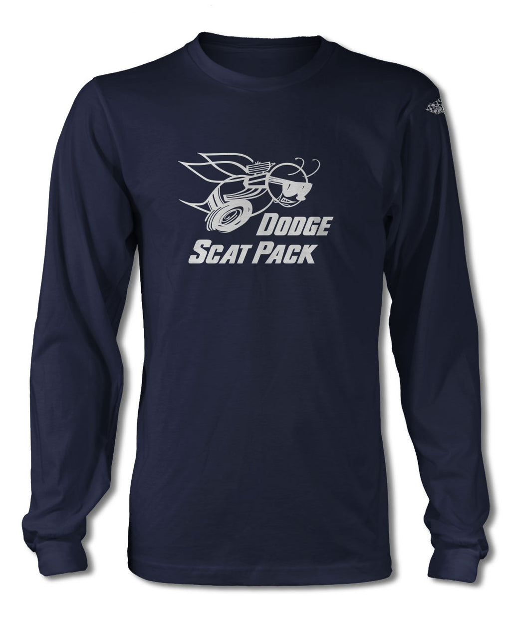 Dodge Scat Pack 1968 Emblem T-Shirt - Long Sleeves - Emblem