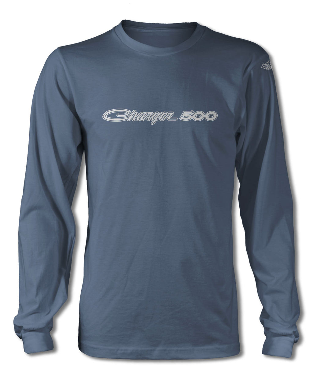 1969 Dodge Charger 500 Emblem T-Shirt - Long Sleeves - Emblem