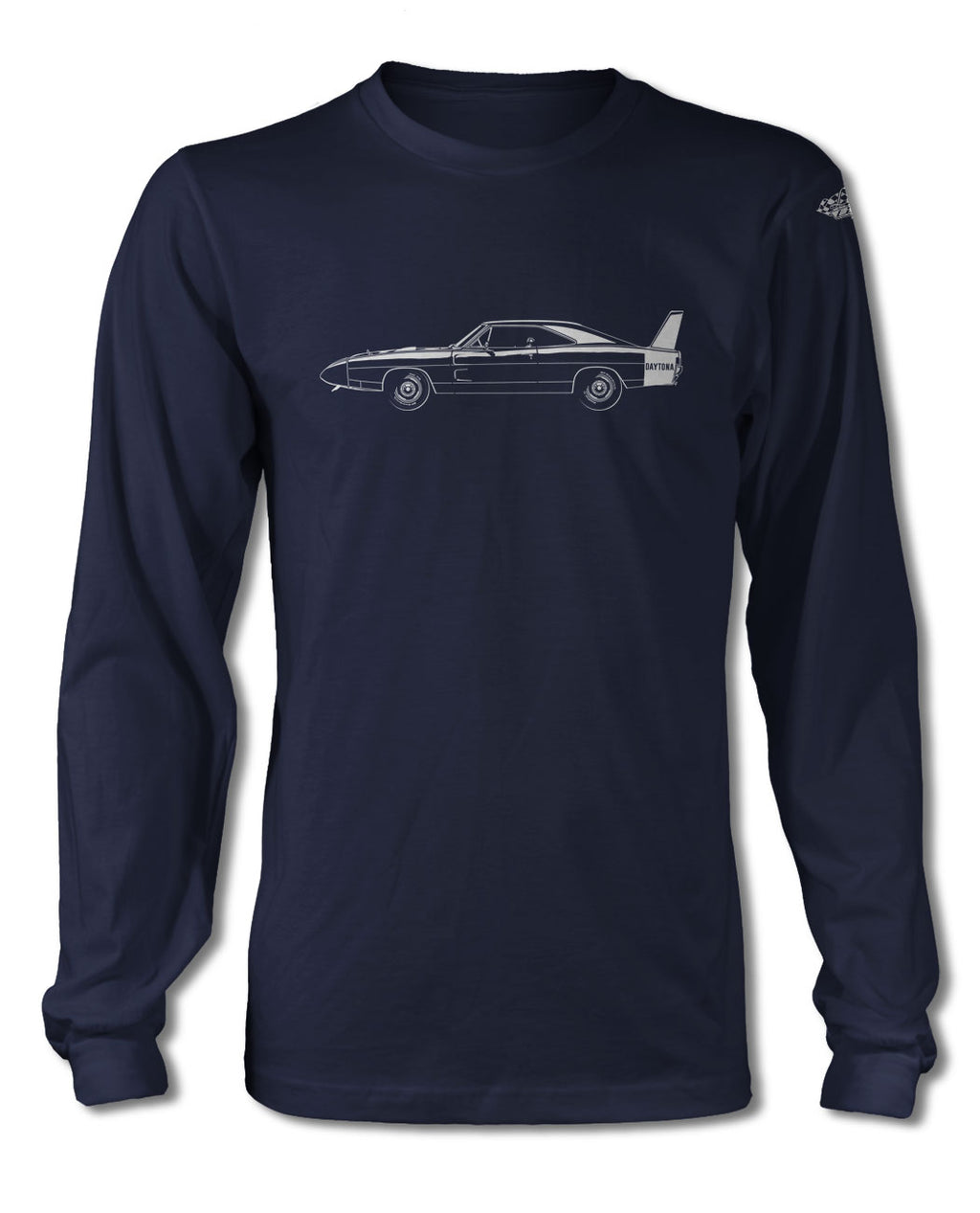 1969 Dodge Charger Daytona Coupe T-Shirt - Long Sleeves - Side View