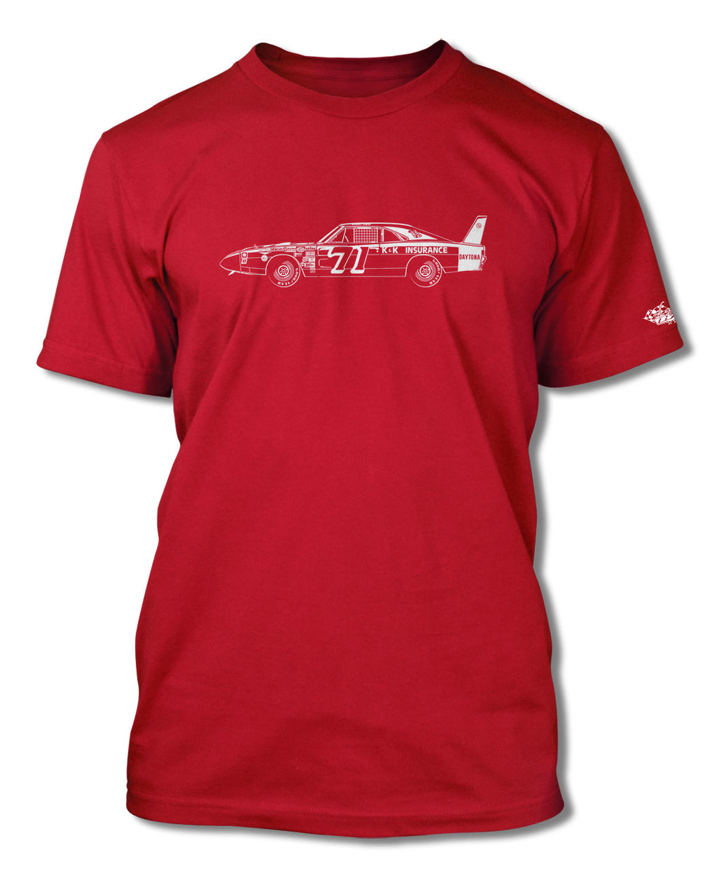 1969 Dodge Charger Daytona Bobby Issac #71 T-Shirt - Men - Side View