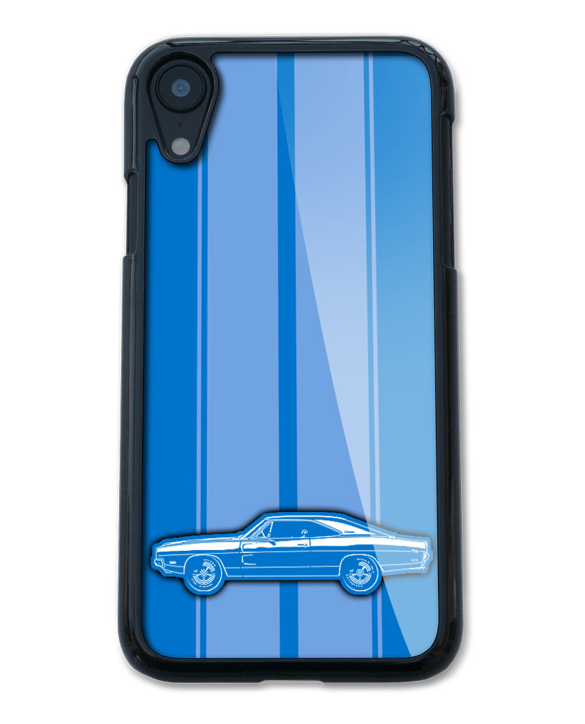 1969 Dodge Charger RT Coupe Smartphone Case - Racing Stripes