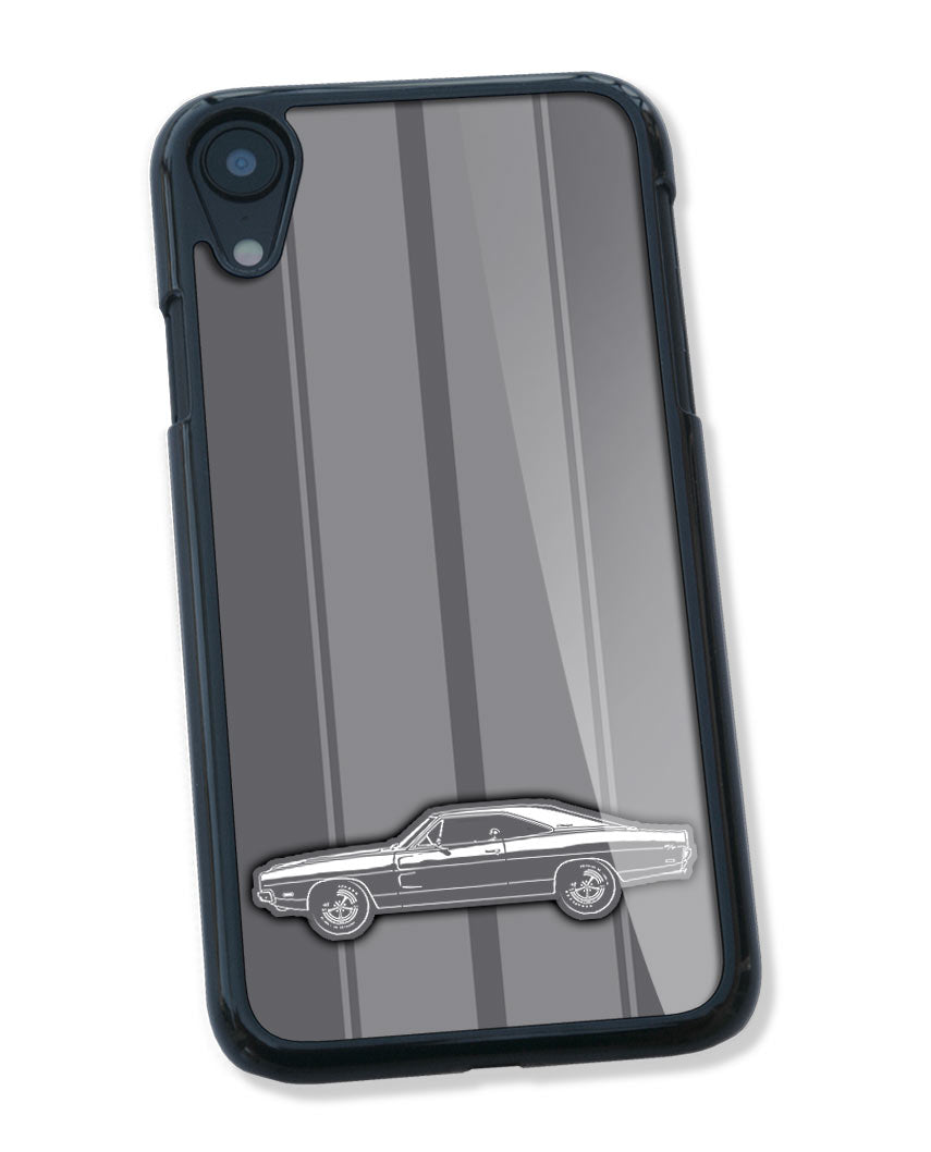 1969 Dodge Charger RT Hardtop Smartphone Case - Racing Stripes