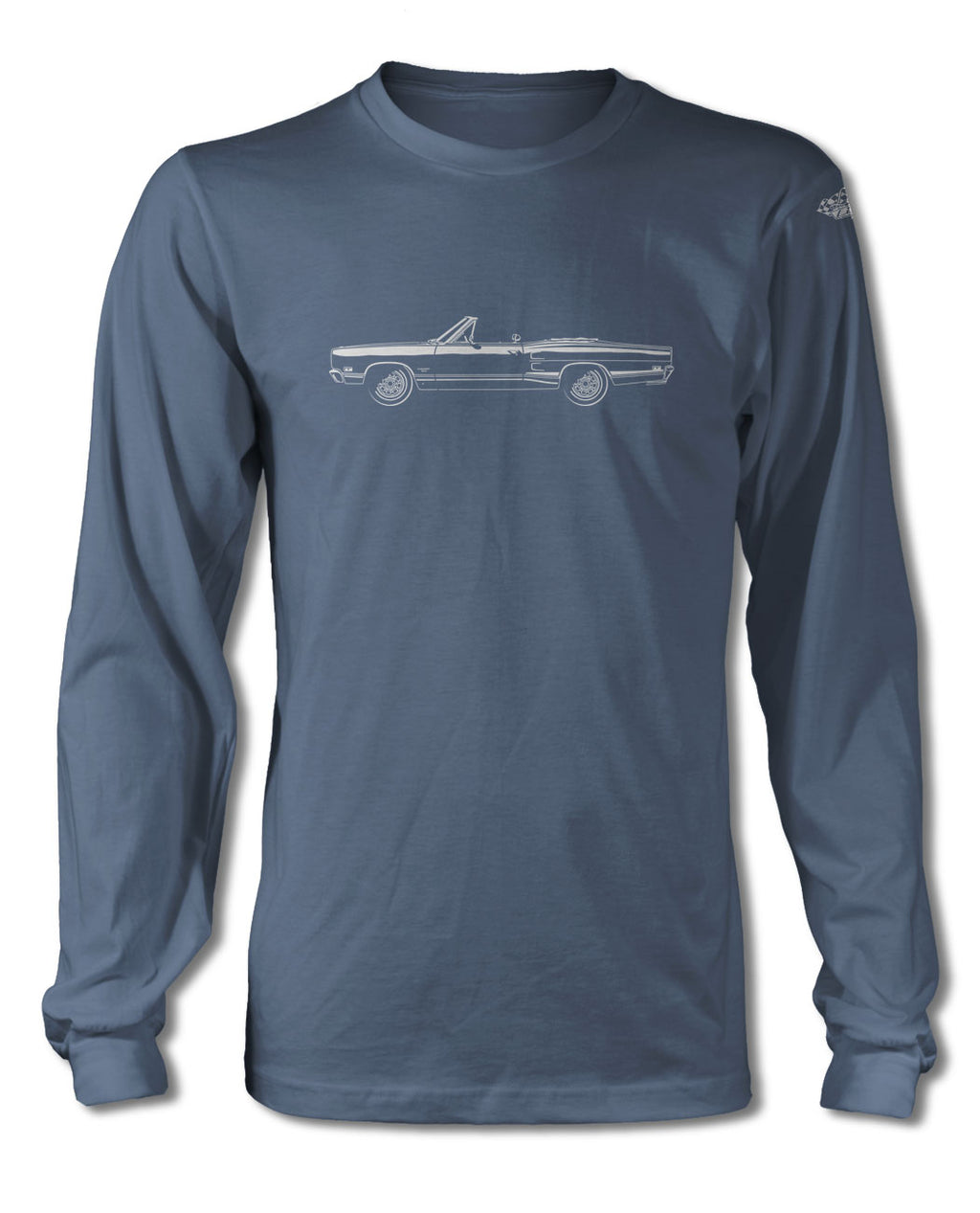 1969 Dodge Coronet 500 Convertible T-Shirt - Long Sleeves - Side View