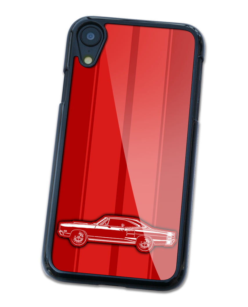 1969 Dodge Coronet RT Coupe with Stripes Smartphone Case - Racing Stripes