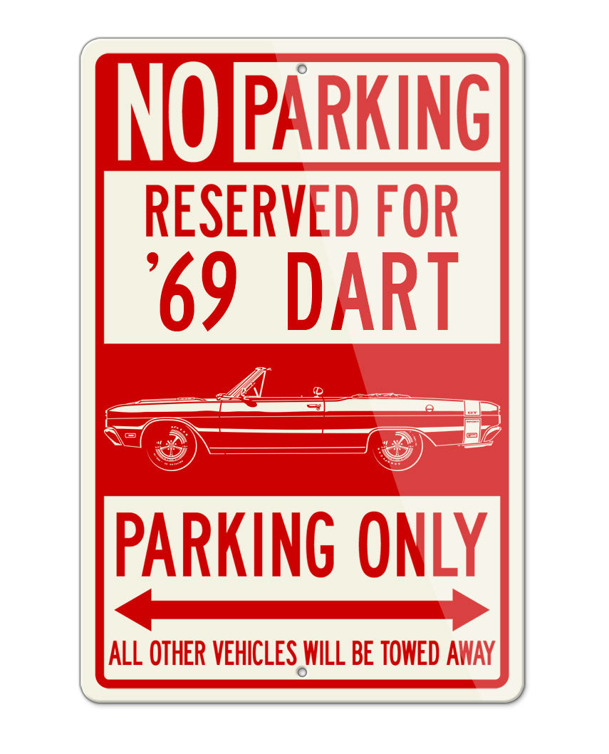 1969 Dodge Dart GTS Convertible Parking Only Sign