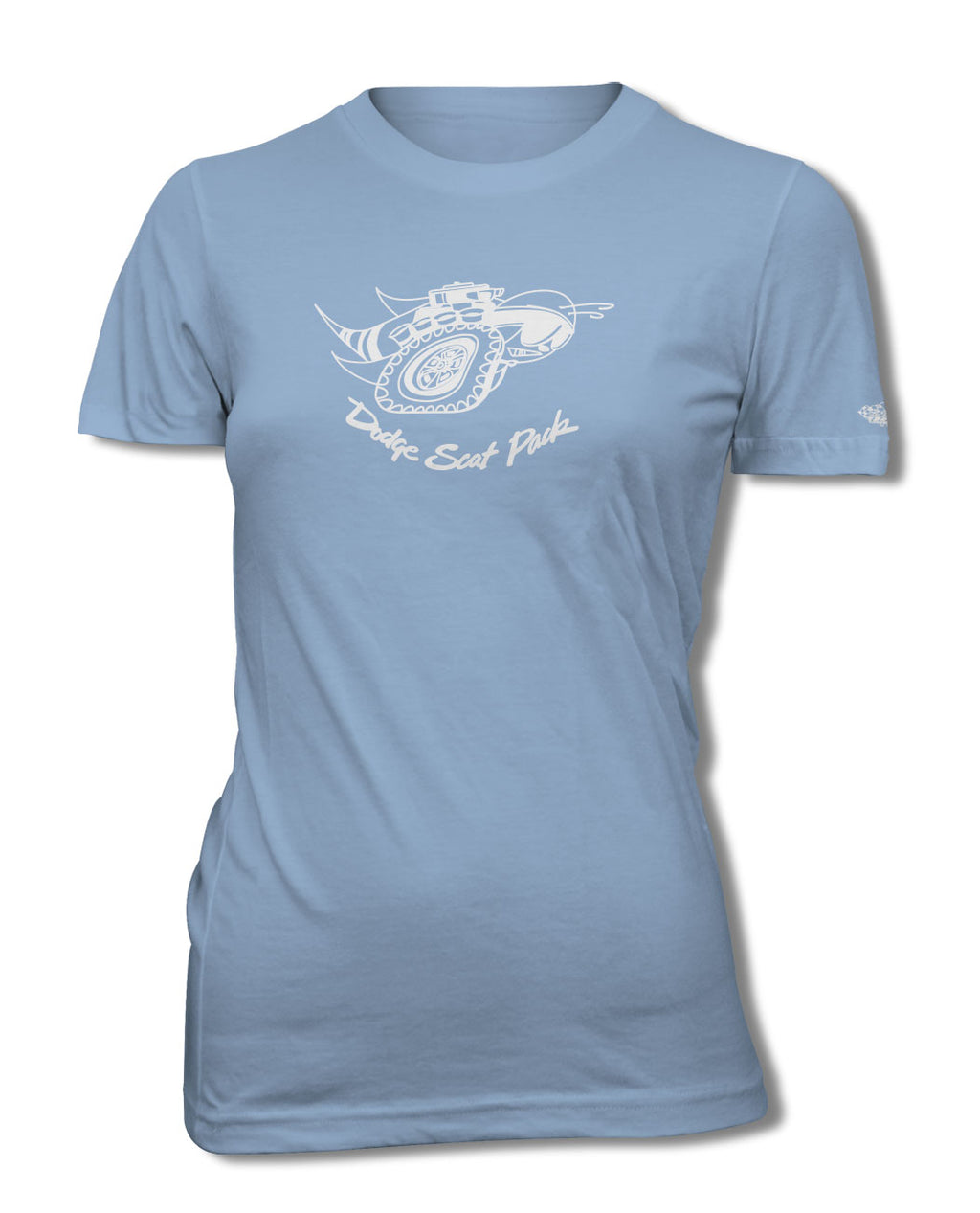Dodge Scat Pack 1969 Emblem T-Shirt - Women - Emblem