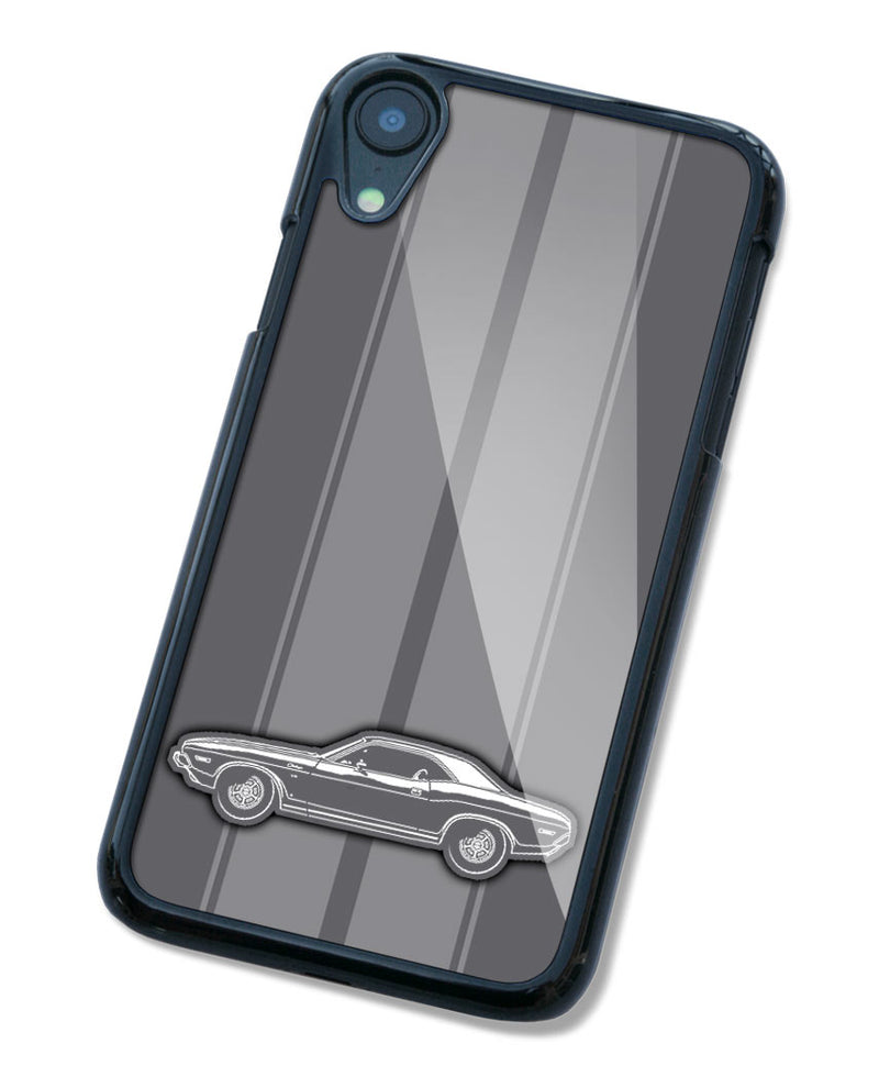 1971 Dodge Challenger RT Coupe Shaker Hood Smartphone Case - Racing Stripes