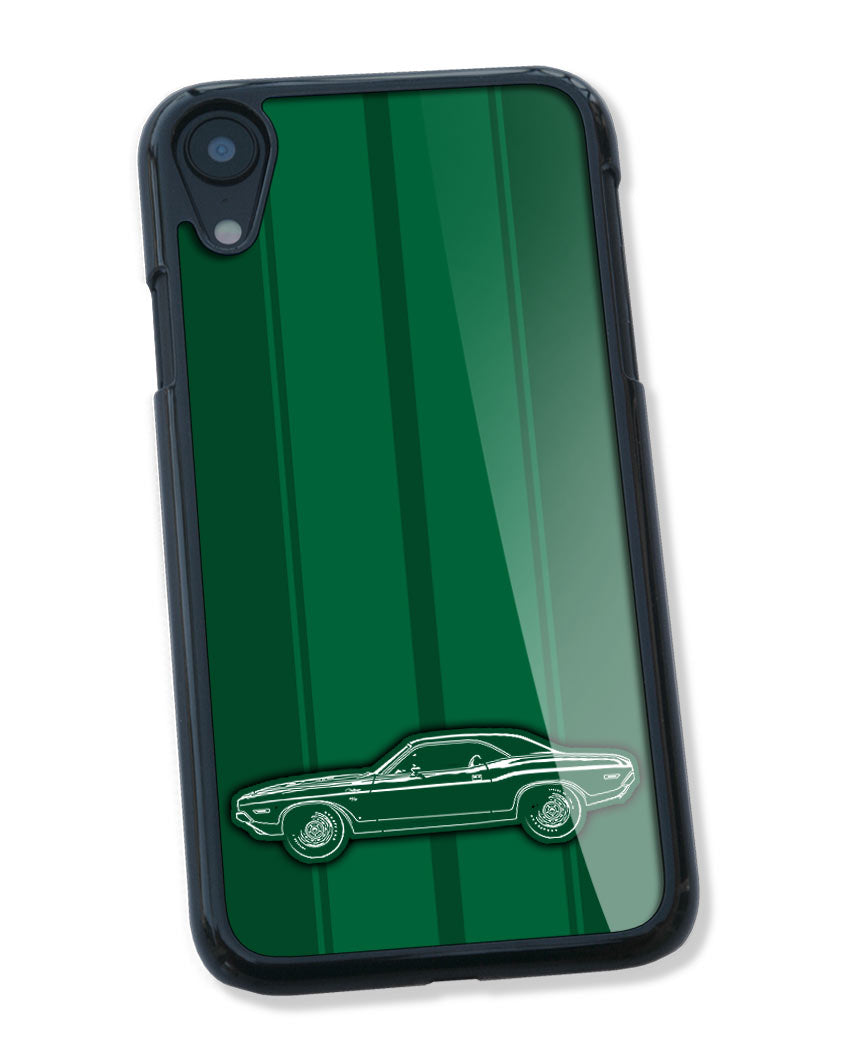 1970 Dodge Challenger RT Coupe Bulge Hood Smartphone Case - Racing Stripes
