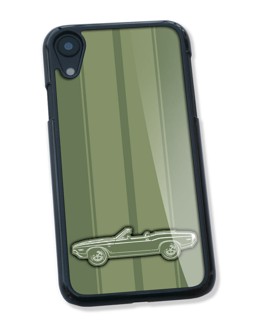 1970 Dodge Challenger RT Scat Pack Convertible Bulge Hood Smartphone Case - Racing Stripes